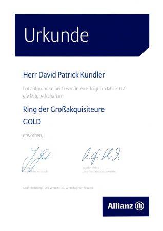 Großakquisiteure Gold 2012