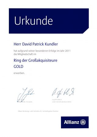 Ring Großakquisiteure Gold 2011