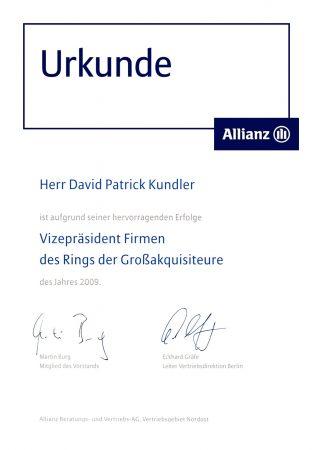 Ukrunde Vizepräsident Ring Großakquisiteure 2009