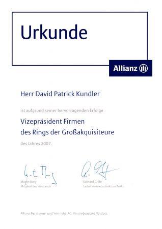 Urkunde Kundler
