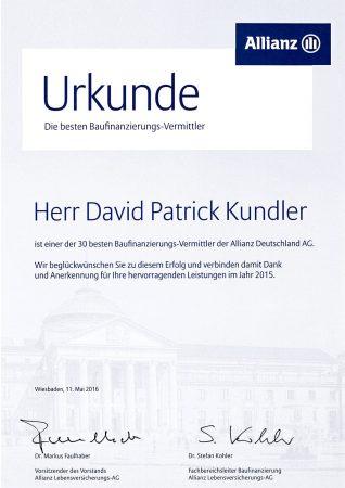 Kundler Urkunde Buafinanzierung