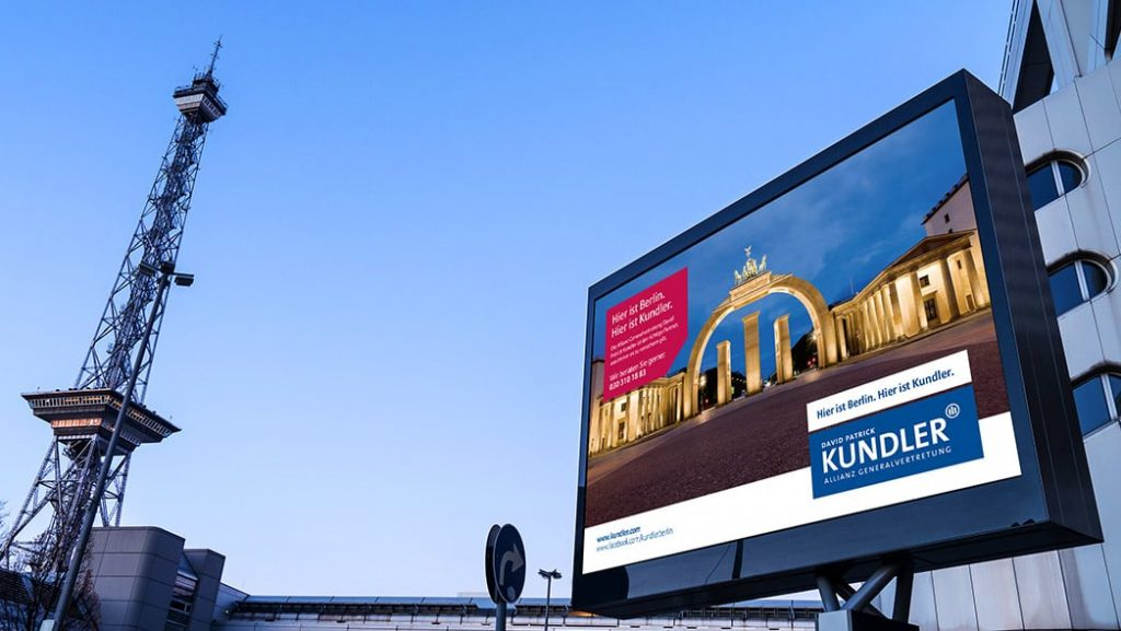 Kundler Werbekampagne Brandenburgertor