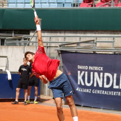 Allianz Kundler German Juniors 2018 Tennis Herren Aufschlag - Allianz Versicherung Berlin © Patrick Becher