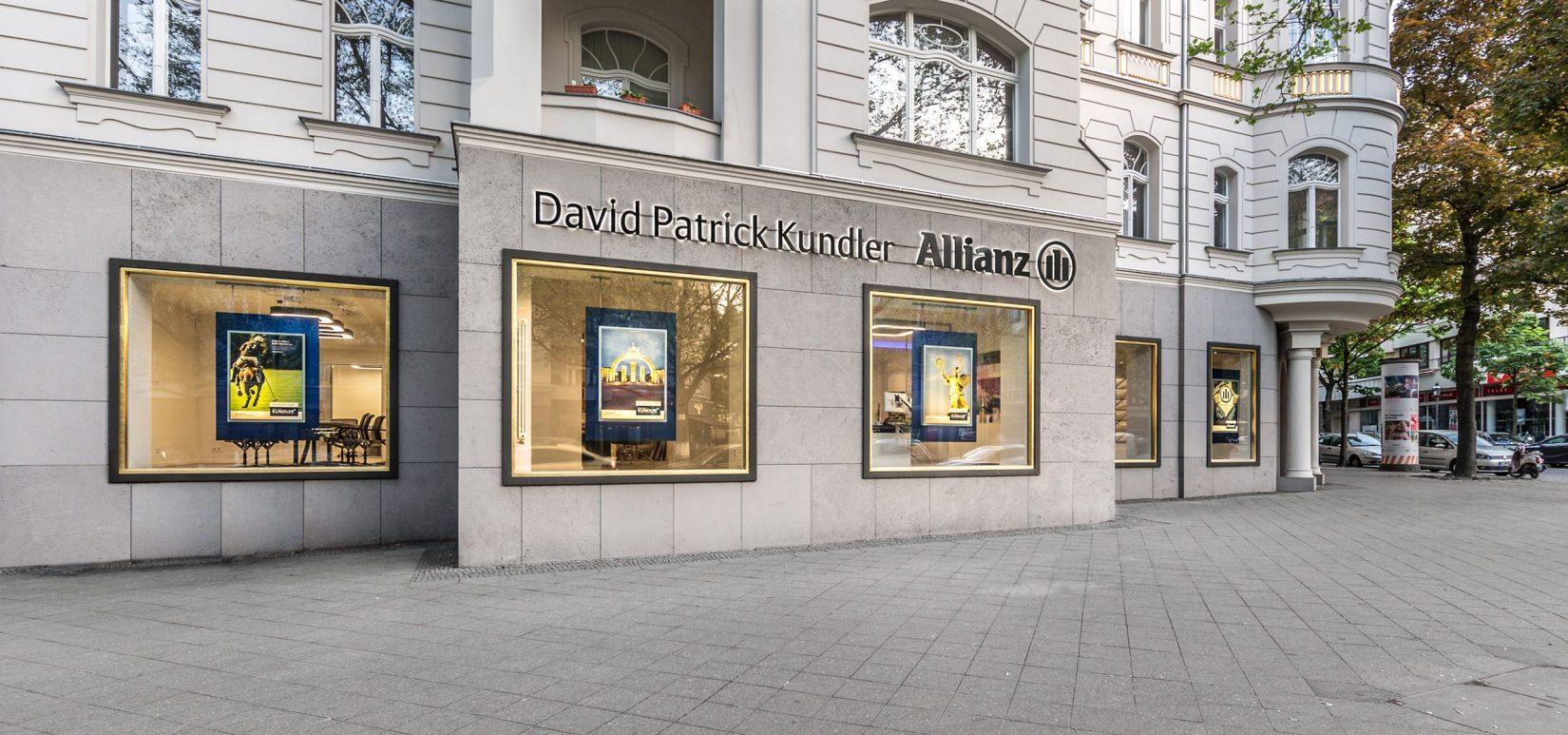 Allianz Versicherung Berlin David Patrick Kundler: Die Nr. 1 der Allianz für Versicherung und Finanzierung in Berlin und Deutschland – Vertrauen Sie auf die globale Reichweite und Solidität der Allianz Versicherung.