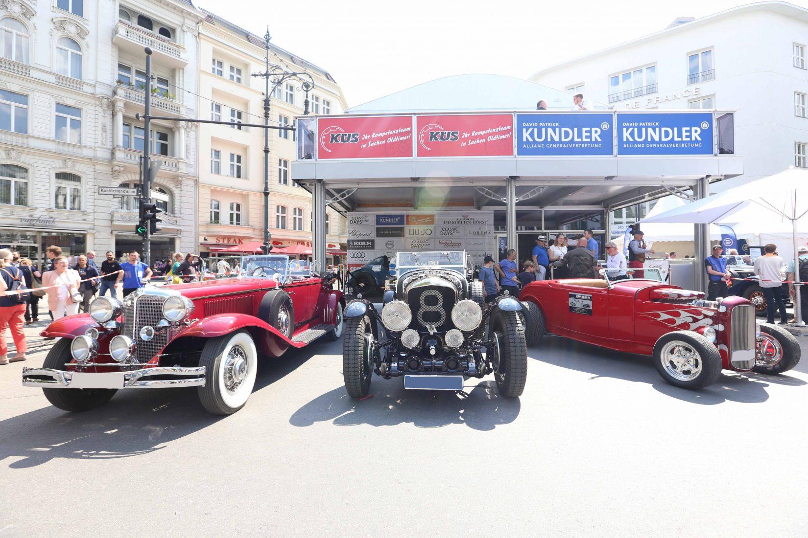 Classic Days Berliin 2019: Oldtimer Fahrzeuge auf dem Kurfürstendamm
