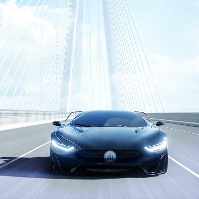 Auto auf einer Brücke